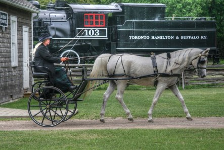 At Westfield Heritage Village, a regular site for Tri-County Carriage social drives. Photo by Robin Burkimsher