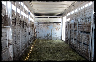 inside of trailer