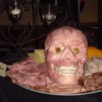 cold cut meat head meat and cheese platter