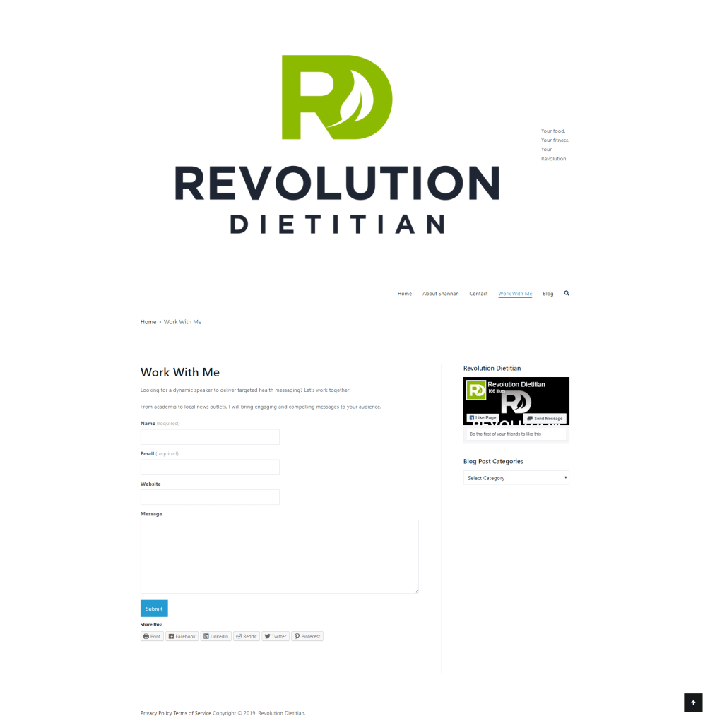 Website Redesign for Better SEO Registered Dietitian Edition - Heather Dauphiny Creative - Before - Contact - 1