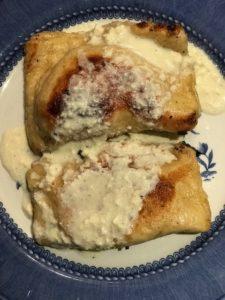 veronicas with cream gravy