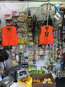 hunting and fishing supplies