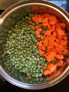 making peas and carrots