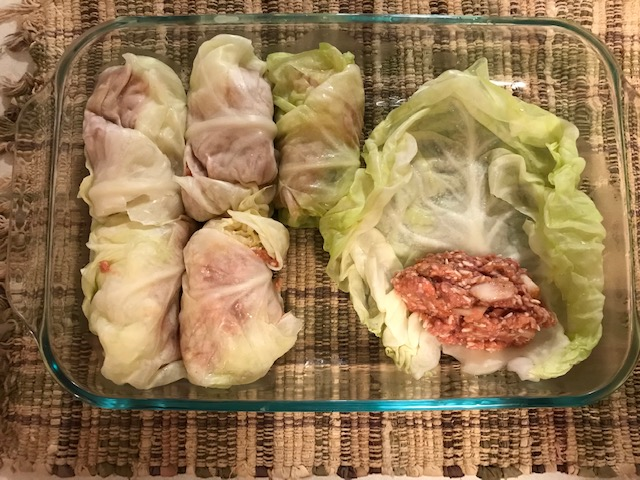 Rolling Cabbage rolls #cabbagerolls #cabbagerecipes #HeatherEarles