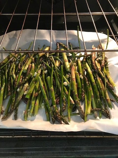 asparagus in the oven