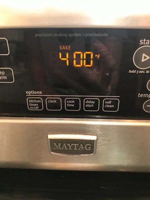 preheat oven for cherry scones to 400°F