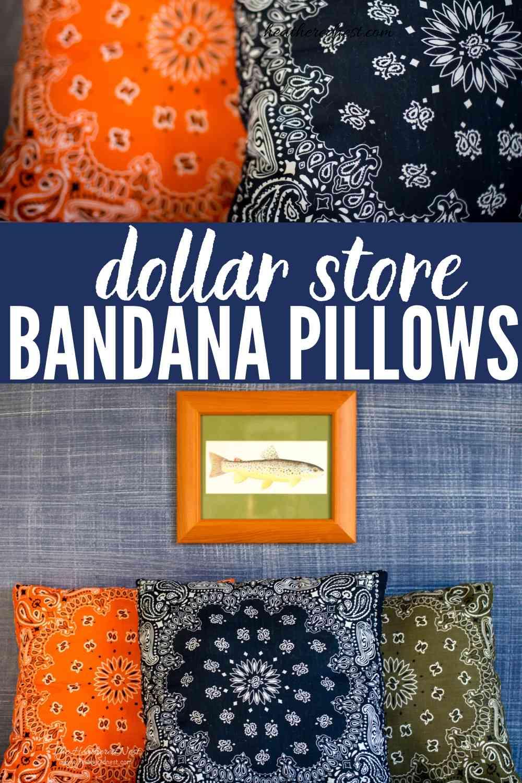 diy bandana pillows make your own