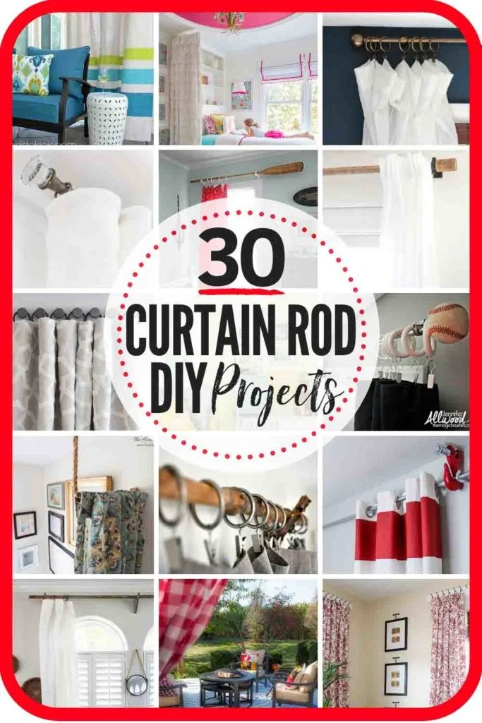 diy curtain rods the heathered nest