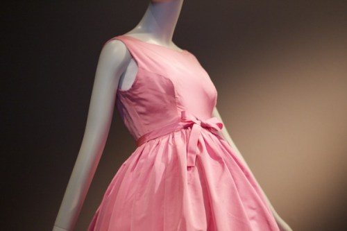 """One of the gowns on display at the exhibit """"Balenciaga and Spain""""."""