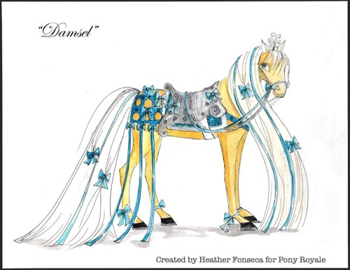 Pony Royale Vintage Illustration of Damsel