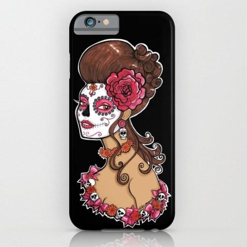 Glamorous Sugar Skull Girl Phone Case