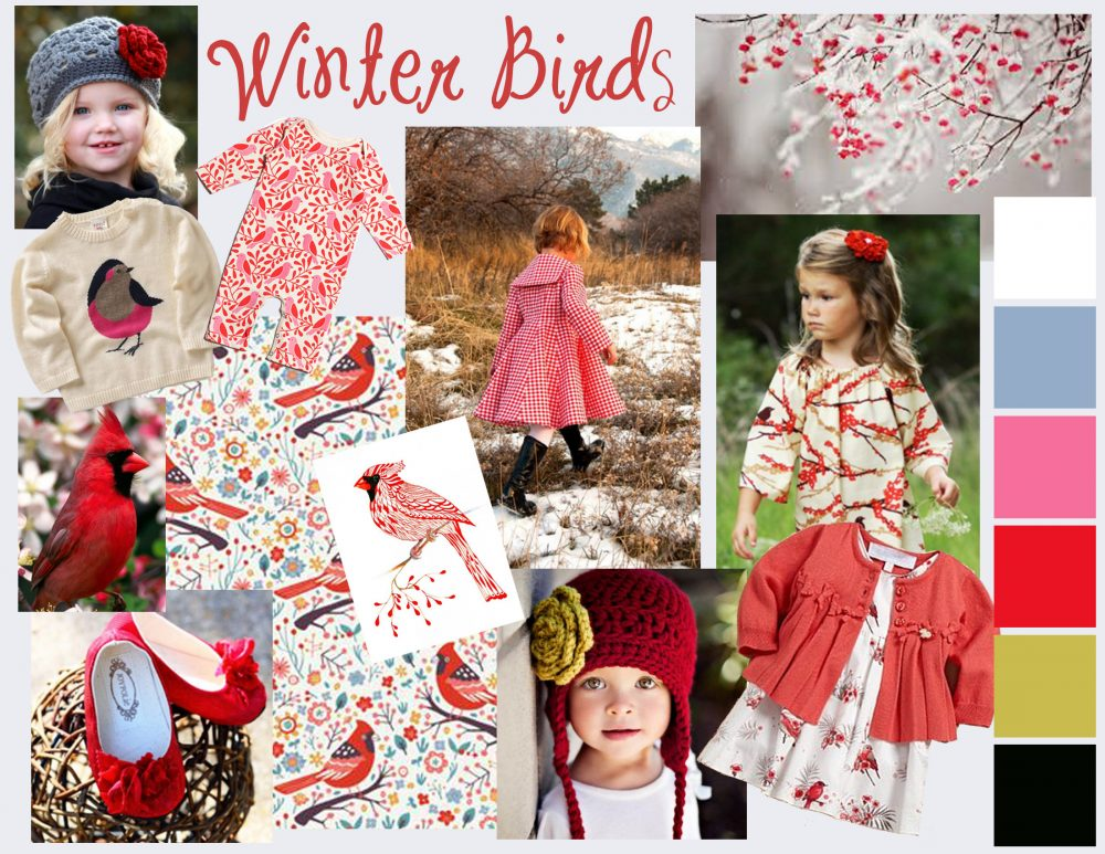 Winter Birds - A Mood Board for a Toddler Doll
