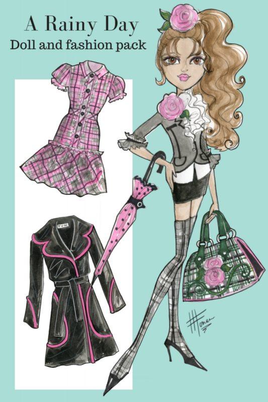 A Rainy Day Doll Fashion Design