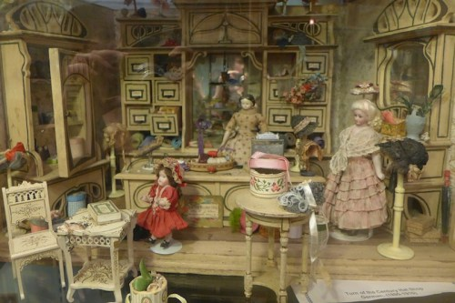 Miniature Millinery Store on display at Angel's Attic Museum