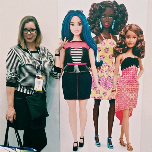 Barbie and I at New York Toy Fair