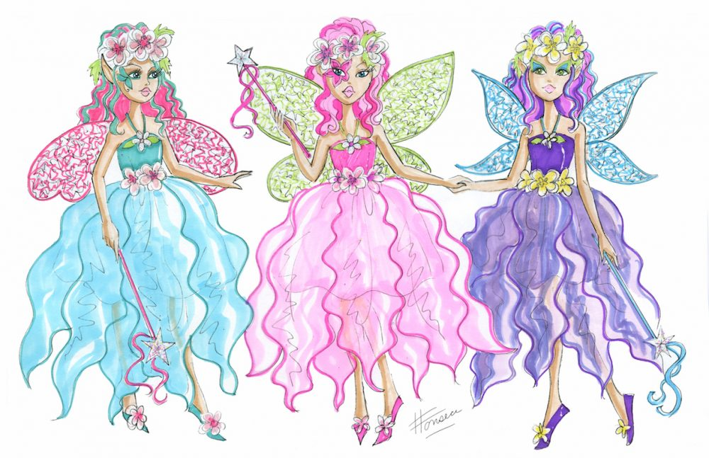 Flower Fairy Design Illustrations
