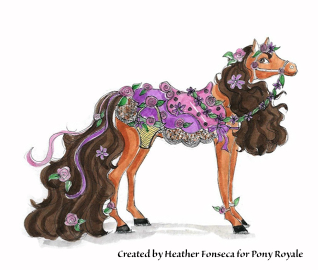 "Pony Royale invention design of ""Flora"" by Heather Fonseca"