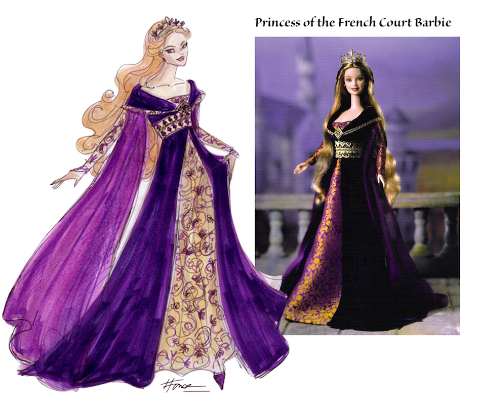 Princess of France Barbie Illustration and doll by Heather Fonseca