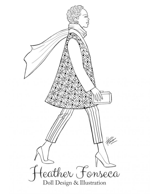 This Coat was made for Walking Coloring Page by Heather Fonseca