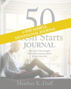 5-Day Sample PDF of 50 Fresh Starts Journal