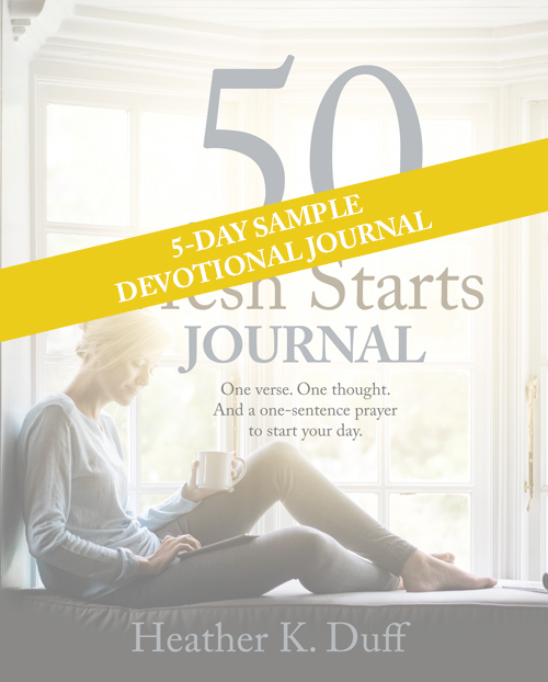 5-Day Sample PDF of 50 Fresh Starts Journal