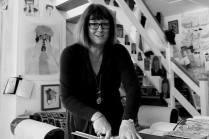 Maureen in the studio