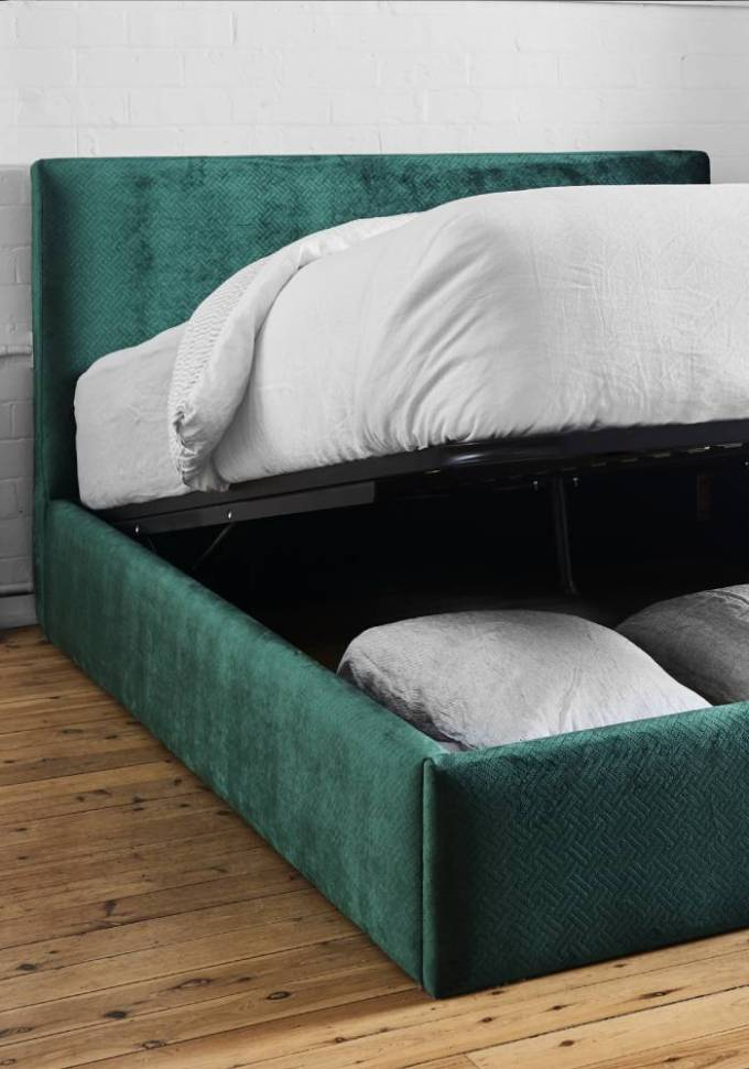 new bed and bedhead showroom