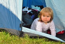 Baby loves to camp