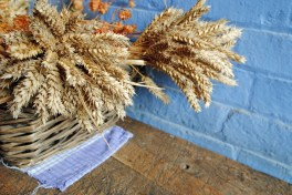 wheat in basket