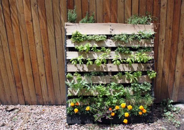 pallet planter vertical garden DIY Inspiration: The Vertical Herb Garden. – To The Bones