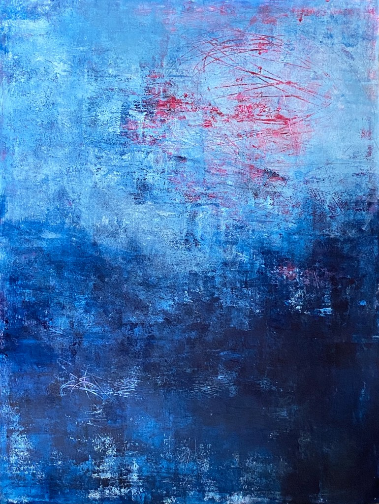 Abstract Painting Moon over water