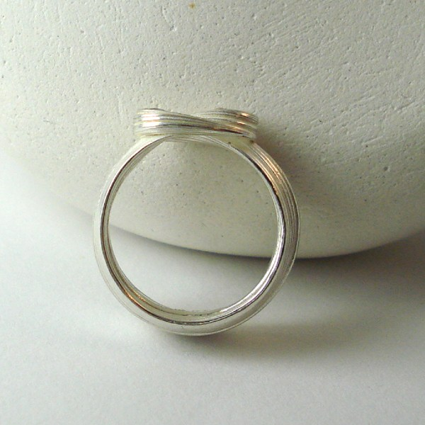 silver wave ring bottom view