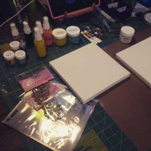 prepping canvas 3