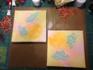 prepping double canvas 11