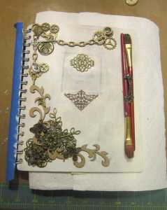 laying out some trinkets and adornments.