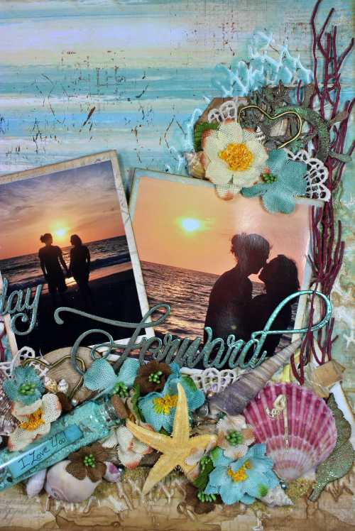 Wedding Shadow Box close up 4