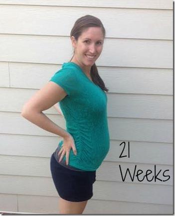 21weeks bump