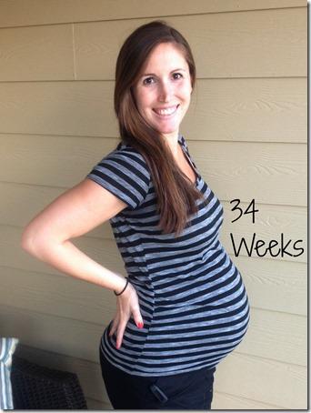 34weeks bump