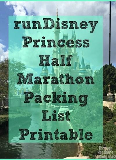 runDisney Princess Half Marathon Packing List