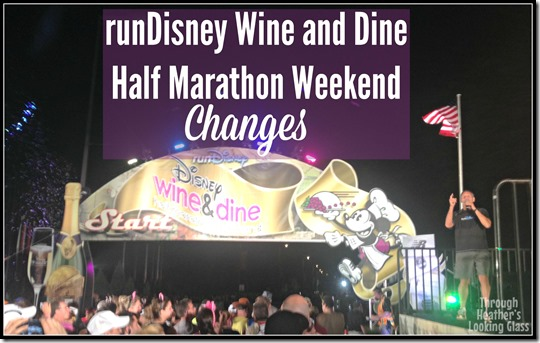 runDisney wine and dine changes