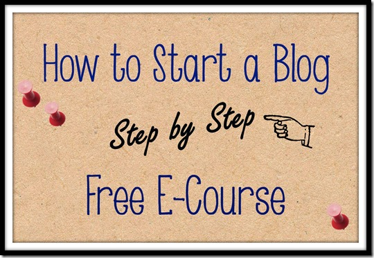 how to start a blog free e-course