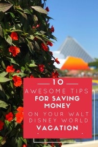 Save Money in Walt Disney World