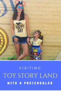 Disney's toy story land with a preschooler