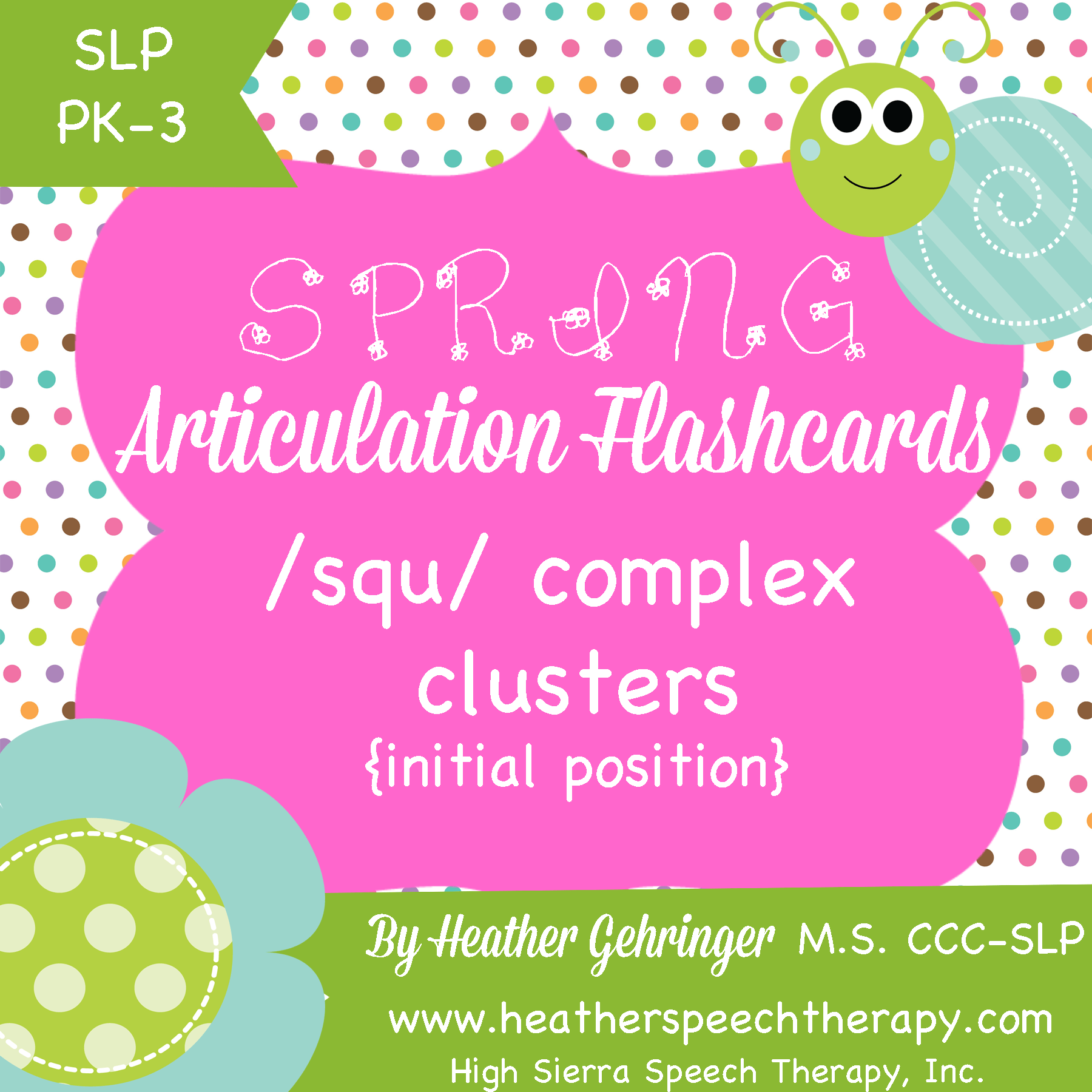Happy Spring Free Complex S Cluster Squ Printable