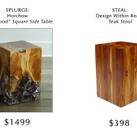 Splurge versus Steal: Teak Side Table