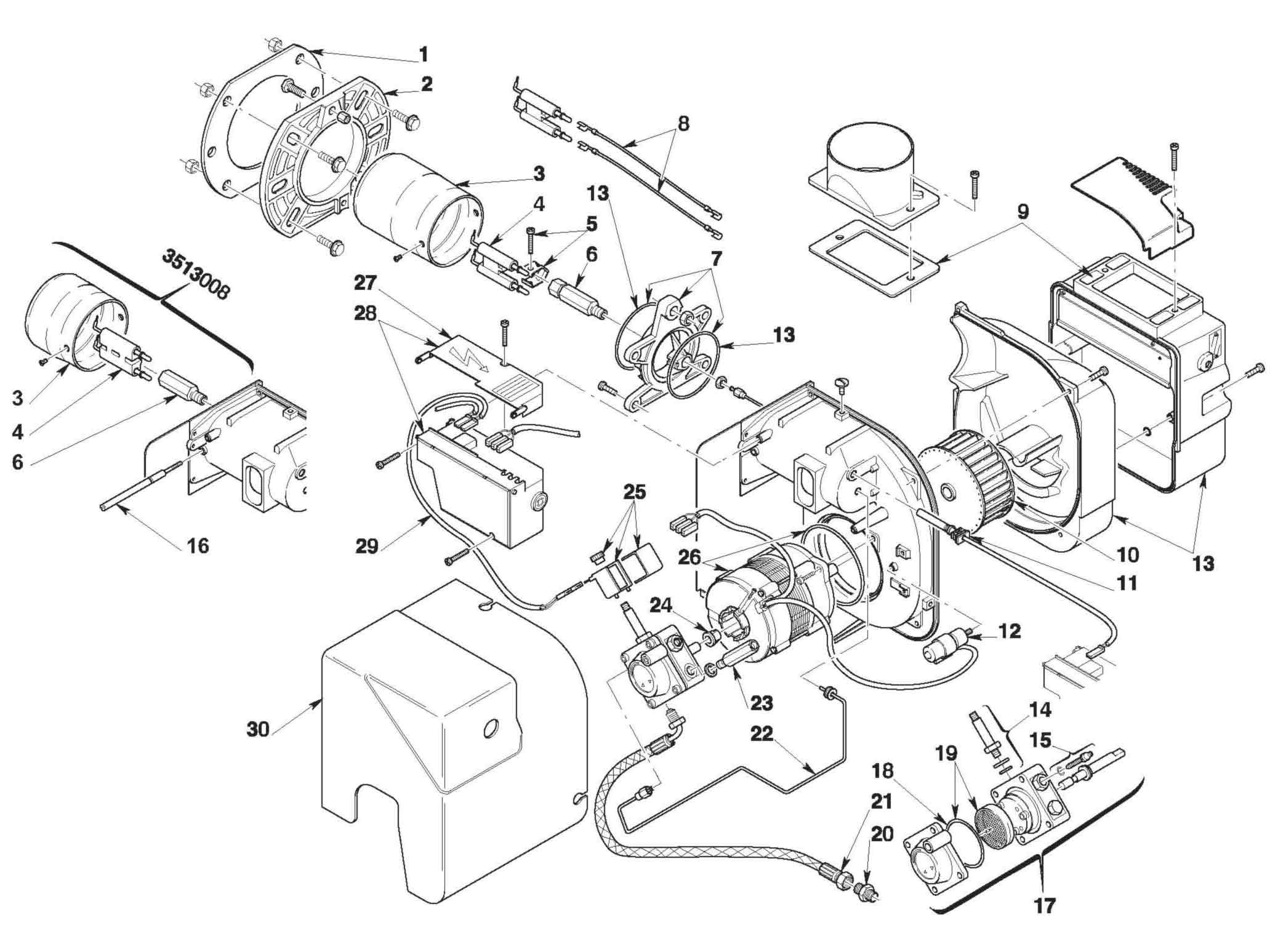 Riello Rdb 1 Burner Parts