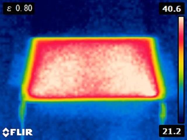 TA125-100-200S DC12V印加時 サーモグラフィ画像