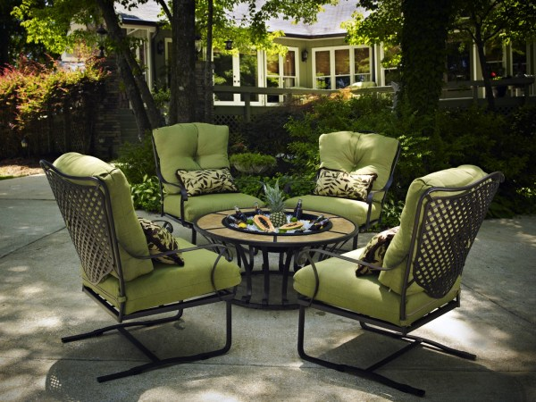 outdoor patio furniture Wrought Iron Chat | Hot Tubs, Fireplaces, Patio Furniture