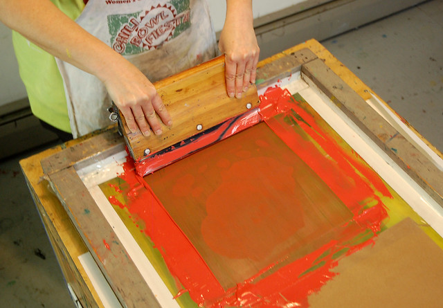 silk screen printing process