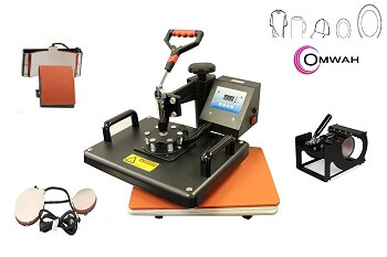 OrangeA Heat Press 5 in 1 Swing Away Heat transfer Press Machine